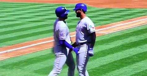 Video: Texas Rangers Players Celebrate Home Run With A Bizzare Crotch Grabbing Handshake