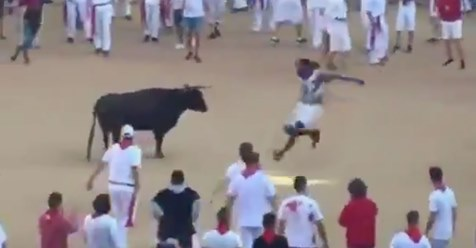Redskins CB Josh Norman Made An Insane Leap At The Running of the Bulls Festival In Spain