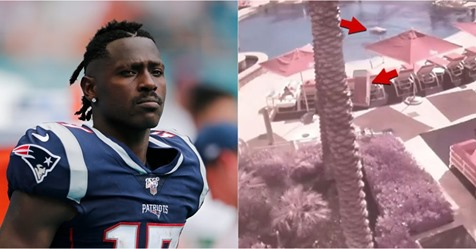 Video: Incident Where Antonio Brown Is Accused Of Throwing Furniture At Condo Residents Was Caught On Camera