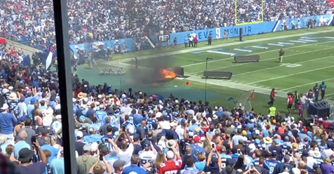 Video: A Massive Fire Breaks Out Prior To The Titans/Colts Game In Nashville