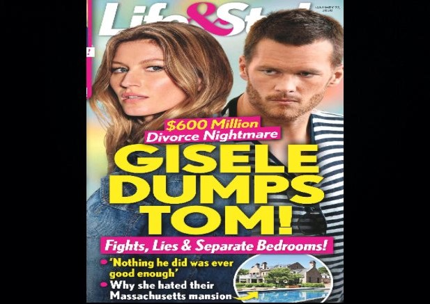 "This Week's Headline In ""Life & Style Magazine"" Claims Tom & Gisele Have Split Up"