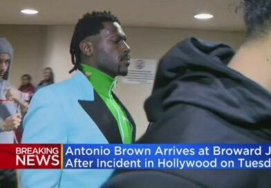 Video: Antonio Brown Surrendered Himself To The Police After A Warrant Was Issued